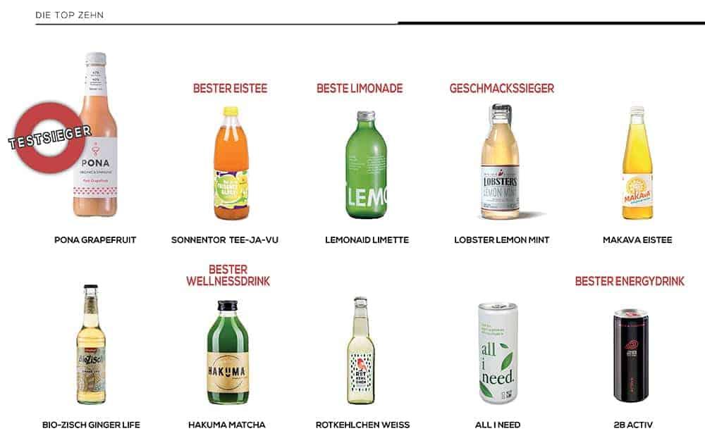 Die besten Erfrischungsgetränke