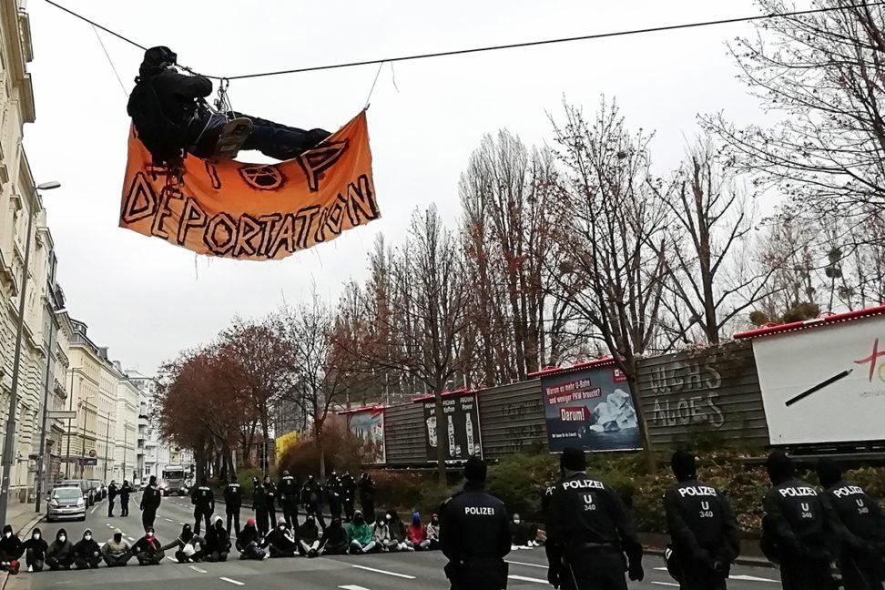 Aktiver Protest gegen Abschiebung