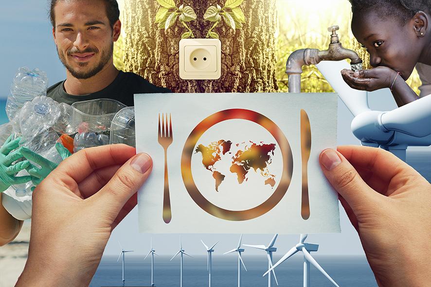 Die globalen 17 SDG´s - Kein Plastik, sauberer Strom, sauberes Wasser, genug Nahrung