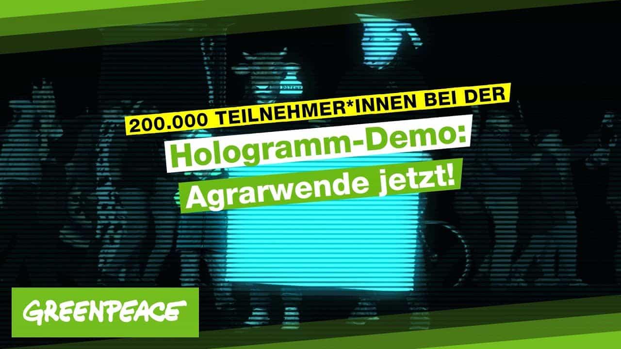 Das war die Hologramm-Demo: Agrarwende Jetzt! | Greenpeace Deutschland