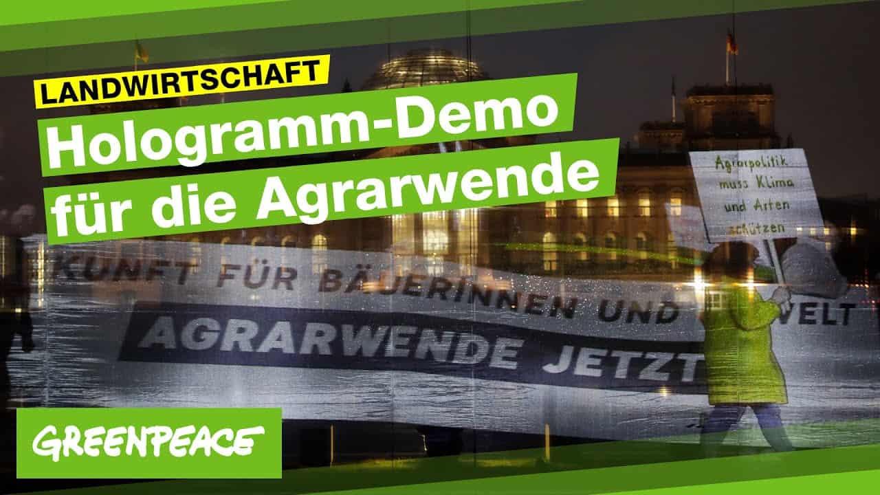Über 200.000 Teilnehmer:innen bei der Hologramm-Demo für die Agrarwende | Greenpeace Deutschland