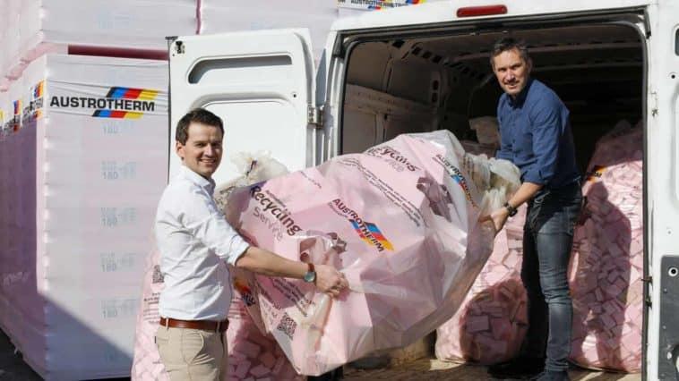 Kreislaufprojekt Austrotherm holt und recycelt Dämmungs-Verschnitt kostenfrei